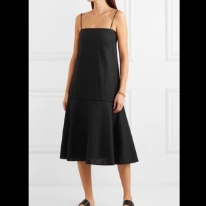 Toteme Andorra black linen dress NWT